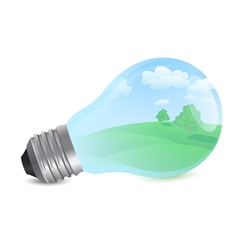 nature bulb vector image