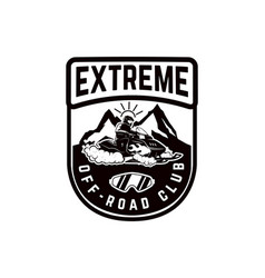 offroad extreme adventure emblem template with vector image
