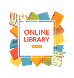 online library landing page template education e vector image