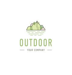 Outdoor explorer badge of outdoor vector