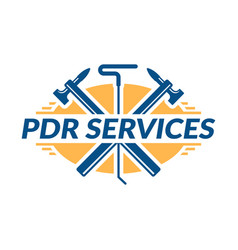 Paintless dent repair logo pdr service logo vector