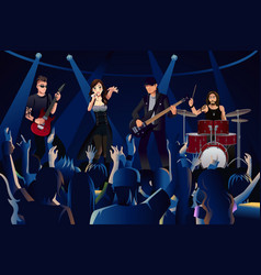 people in a concert vector image