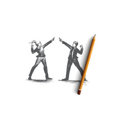people leader concept hand drawn isolated vector image