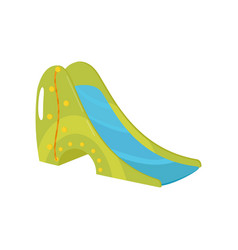 Playground slide on a white vector