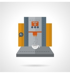 Professional coffee equipment flat icon vector