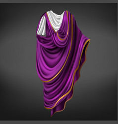 Roman toga ancient commander emperor male dress vector