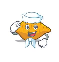 Sailor conchiglie pasta character cartoon vector