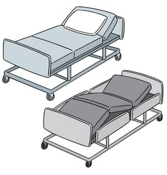 set of hospital bed vector image