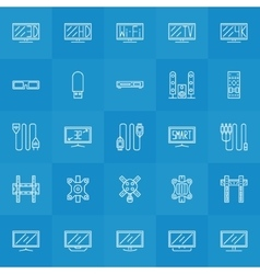 Set of TV icons vector image