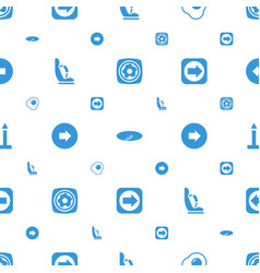 Side icons pattern seamless white background vector