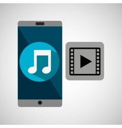 Smartphone music online video vector