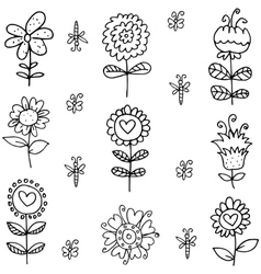 Spring doodles with hand draw vector