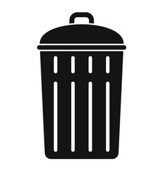 steel recycle bin icon simple style vector image