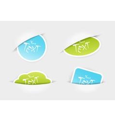 sticker pockets vector image