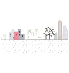 Stylized City scene vector image