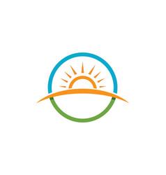 sun logo and symbols star icon web vector image