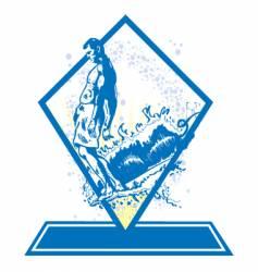 surf emblem vector image