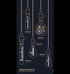 Vintage bulbs concept idea set vector