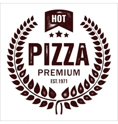 Vintage pizza logo stamp vector