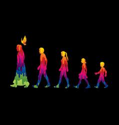 Walk with jesus follow jesus vector
