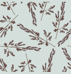 Wildflowers delicate seamless pattern for design vector