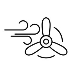 wind eco energy icon outline style vector image