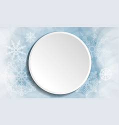 winter christmas white button vector image