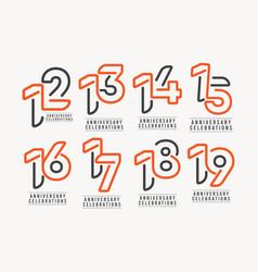 Years anniversary celebration template design vector