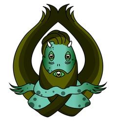 Green swamp monster vector