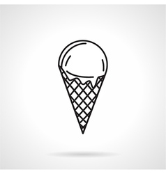 Ice cream black line icon vector image