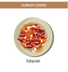 korean cuisine tobpoki tteok-bokki traditional vector image