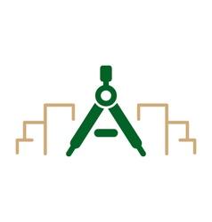 Modern architecture logo vector image