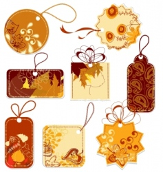 tags collection vector image vector image