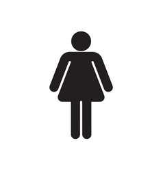woman black silhouette vector image vector image