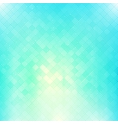Bright blue square mosaic background vector image