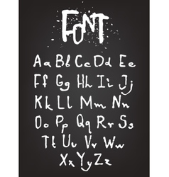 Hand-drawn font Calligraphy alphabet vector image
