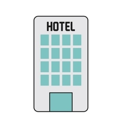 hotel building icon vector image