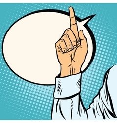 one index finger up gesture vector image vector image
