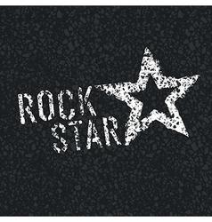 rock star on asphalt vector image