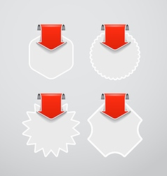 shopping labels templates with red arrows vector image vector image