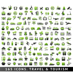 165 bicolor icons Travel and Tourism vector image