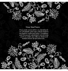 chalkboard floral background vector image