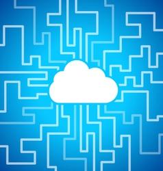 Cloud computing theme vector image vector image