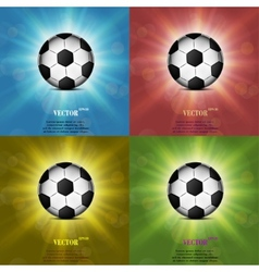 Color set Soccer ball web icon flat design vector image