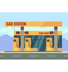 Gas filling station transport related service vector image