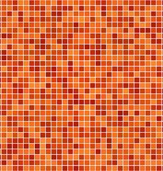 Orange pixel design background vector