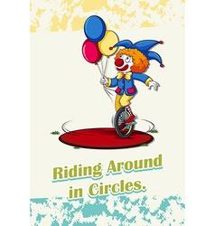 Riding around in circles vector image vector image