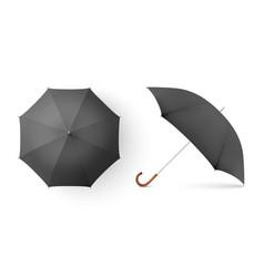 3d realistic render black blank umbrella vector image