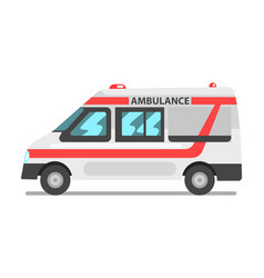 ambulance service car emergency medical service vector image