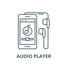 audio player line icon linear concept vector image